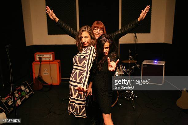 Rock band Babes in Toyland Maureen Herman Lori Barbero Kat Bjelland pose for a portrait at Amp Rehearsal in N Hollywood California on November 16 2014