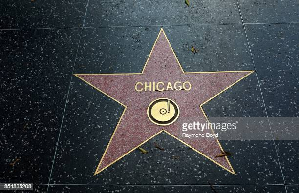 Rock band Chicago's star along the Hollywood Stars Walk of Fame in Los Angeles California on September 11 2017