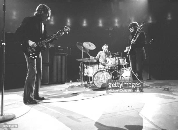 Rock band Cream performs onstage at Madison Square Garden on November 2 1968 in New York City New York LR Jack Bruce Ginger Baker Eric Clapton