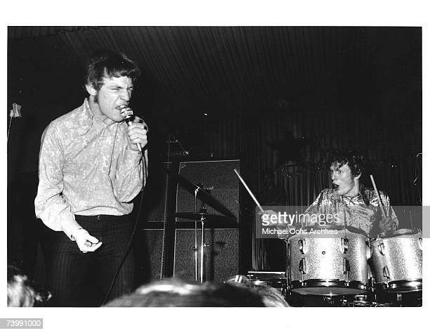 Rock band Cream performs onstage at the Star Club on February 26 1967 in Kiel Germany