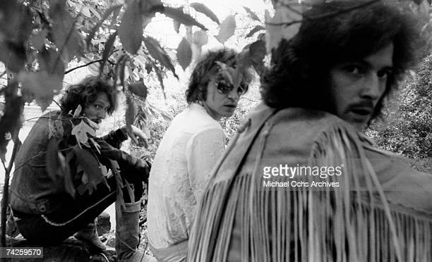 Rock band Cream poses for a portrait in Central Park in 1968 in New York City New York LR Jack Bruce Ginger Baker Eric Clapton