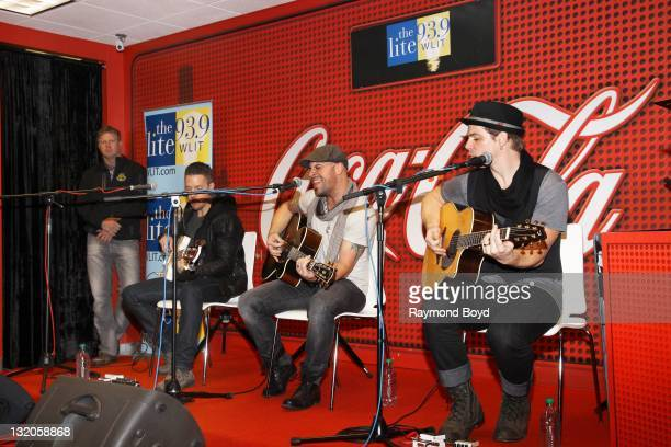 Rock band Daughtry performs in the LITEFM CocaCola Lounge in Chicago Illinois on OCTOBER 21 2011
