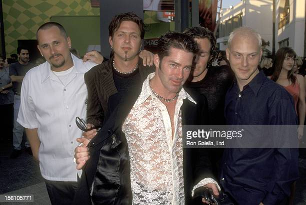 Rock band Dishwalla attends the 'American Pie' Universal City Premiere on July 7 1999 at Cineplex Odeon Universal City Cinemas in Universal City...
