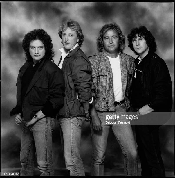 Rock band Foreigner poses for a portrait in 1984 in New York City New York