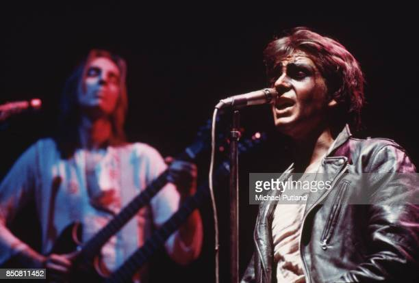 Rock band Genesis on stage circa 1974