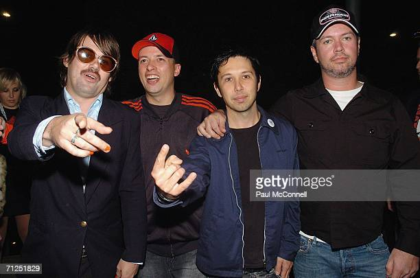 Rock band Grinspoon attends The Jack Awards 2006 at Star City on June 20 2006 in Sydney Australia