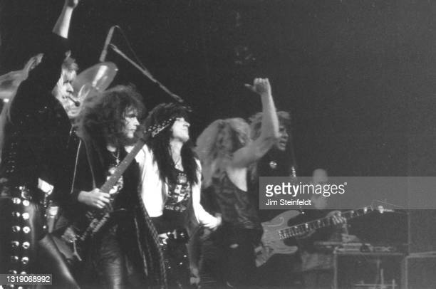 Rock band House of Lords performs in Minneapolis, Minnesota on July 4, 1988.