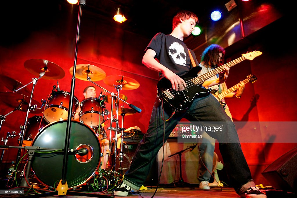 Rock band in action : Stock Photo