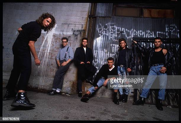Michael Hutchence Kirk Pengilly Andrew Farriss Garry Gary Beers Tim Farriss and Jon Farriss