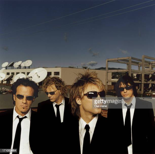 Rock band Jon Bon Jovi are photographed on March 14 2000 in Los Angeles California
