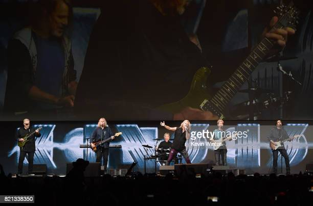 Rock band Kansas performs onstage at the Supernatural panel during ComicCon International 2017 at San Diego Convention Center on July 23 2017 in San...