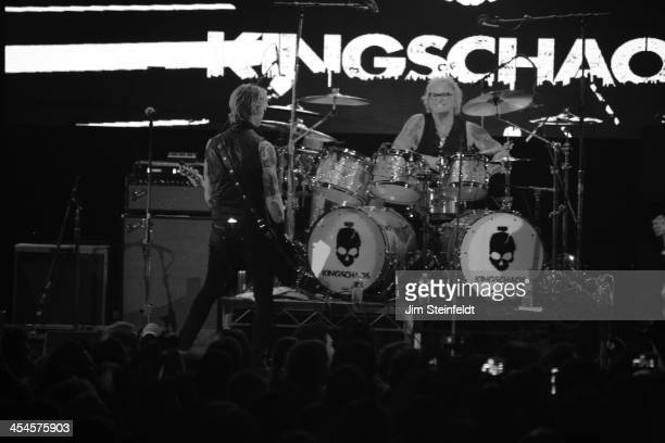 Rock band Kings of Chaos Duff McKagan and Matt Sorum perform a benefit concert for Ric O'Barry's Dolphin Project at the Avalon in Hollywood...