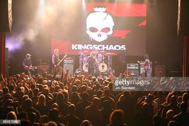 Rock band Kings of Chaos perform a benefit concert for Ric O'Barry's Dolphin Project at the Avalon in Hollywood California on November 18 2013