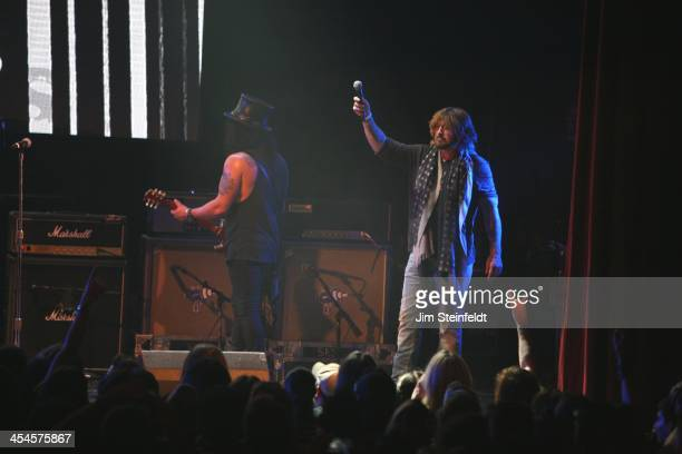 Rock band Kings of Chaos Slash and Billy Ray Cyrus perform a benefit concert for Ric O'Barry's Dolphin Project at the Avalon in Hollywood California...