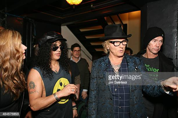 Rock band Kings of Chaos Slash Matt Sorum and Duff McKagan at benefit concert for Ric O'Barry's Dolphin Project at the Avalon in Hollywood California...
