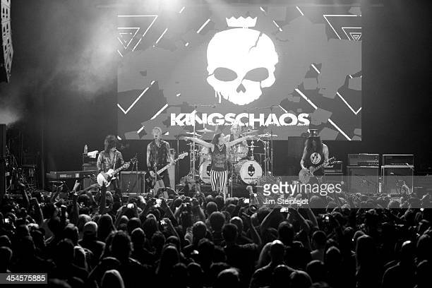 Rock band Kings of Chaos Steve Stevens Duff McKagan Juliette Lewis Matt Sorum and Slash perform a benefit concert for Ric O'Barry's Dolphin Project...