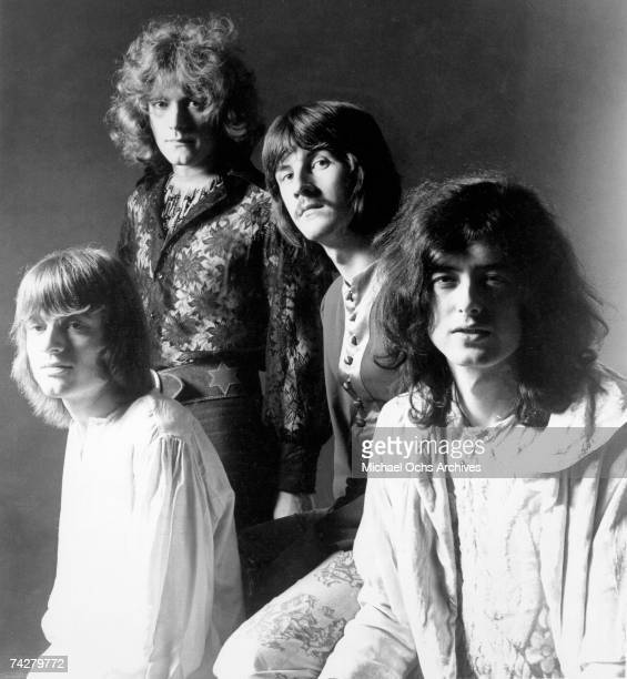 Rock band 'Led Zeppelin' poses for a portrait in 1968 John Paul Jones Robert Plant John Bonham Jimmy Page