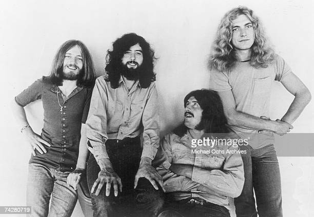 Rock band 'Led Zeppelin' poses for a portrait in 1970 John Paul Jones Jimmy Page John Bonham Robert Plant