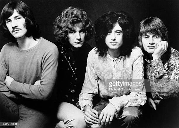 Rock band 'Led Zeppelin' poses for a publicity portrait in 1969 in England John Bonham Robert Plant Jimmy Page John Paul Jones