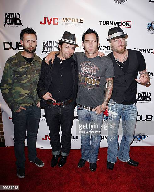 Rock band Lit arrives at The AllAmerican Rejects world premiere of 'Turn Me On 3' at cinespace on May 18 2010 in Hollywood California