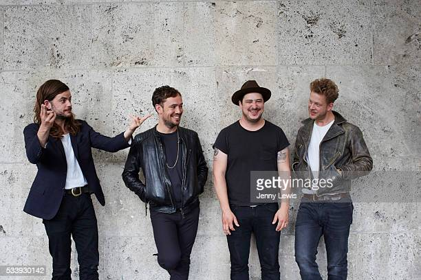 Rock band Mumford Sons are photographed for the Telegraph on July 17 2015 in London England
