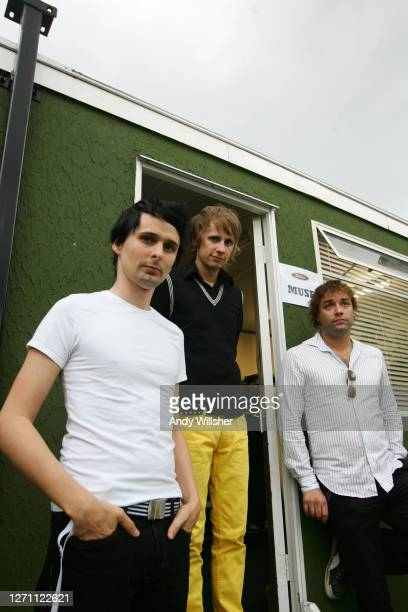 Rock band MUSE, backstage at Reading Festival in 2006