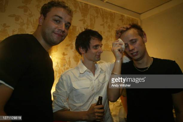 Rock band MUSE backstage in Paris in 2003