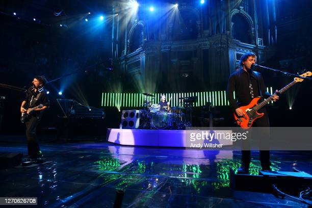 Rock band MUSE performing at the Teenage Cancer Trust gig at the Royal Albert Hall in 2008