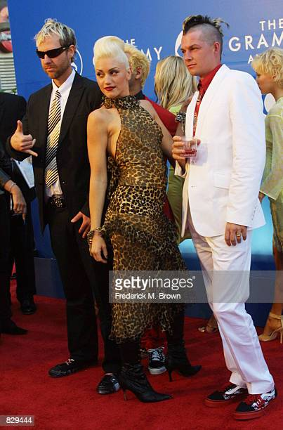 Rock band No Doubt attends the 44th Annual Grammy Awards at Staples Center February 27 2002 in Los Angeles CA