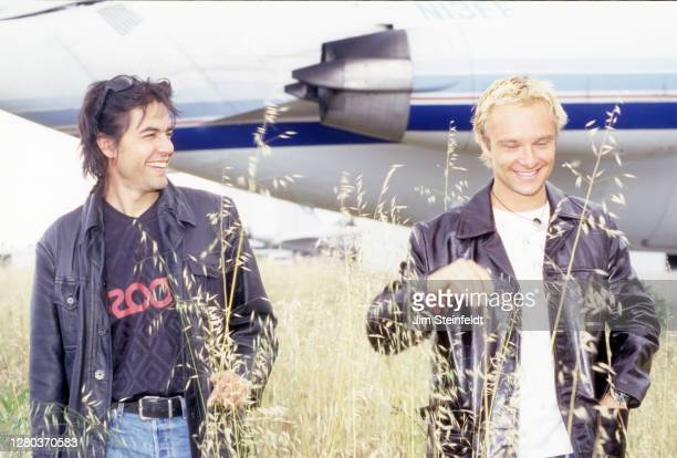Rock band Novocaine pose for a portrait at the Santa Monica airport in Santa Monica, California in 1997.