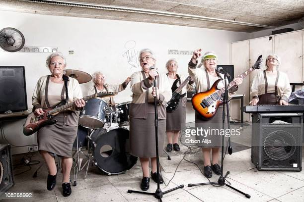 rock band - practical joke stock photos and pictures