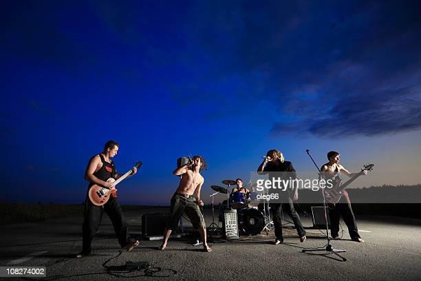 banda de rock - banda de rock - fotografias e filmes do acervo
