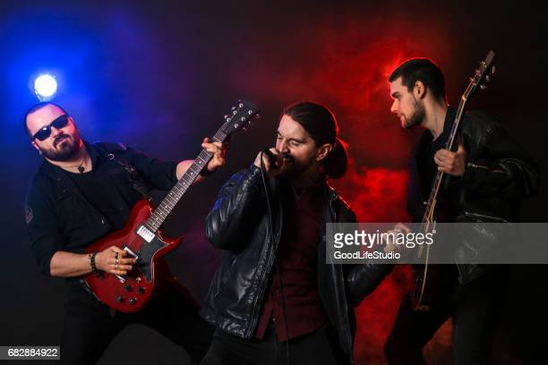 rock band - classic rock stock pictures, royalty-free photos & images