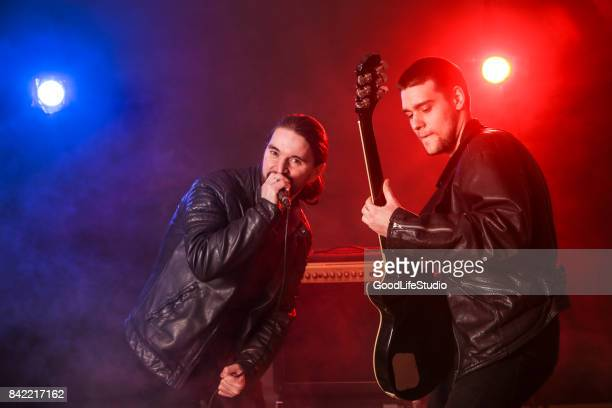 rock band - music style stock pictures, royalty-free photos & images