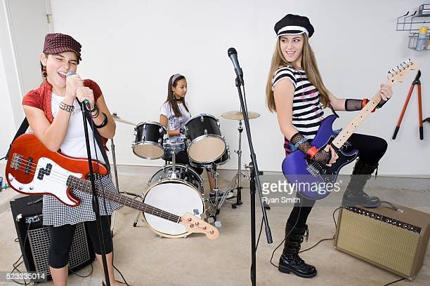 Rock Band Practicing