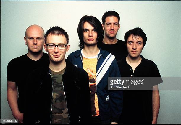 Rock band Radiohead poses for a portrait at Capitol Records during the release of their album OK Computer in Los Angeles California on June 12 1997