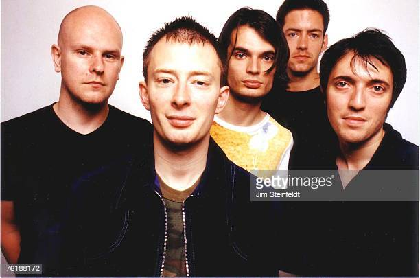 Rock band Radiohead poses for a portrait at Capitol Records Hollywood California on June 11 1997