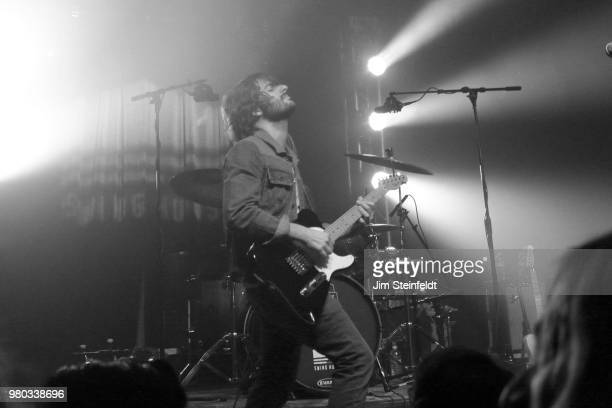 Rock band Rooney performs at Swing House studio in Los Angeles, California on December 18, 2016.