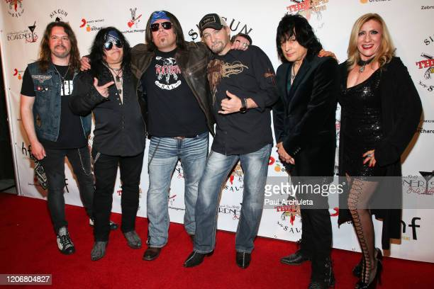 Rock Band Six Gun Sal arrives for their live performance at Boardners Restaurant on February 16 2020 in Hollywood California