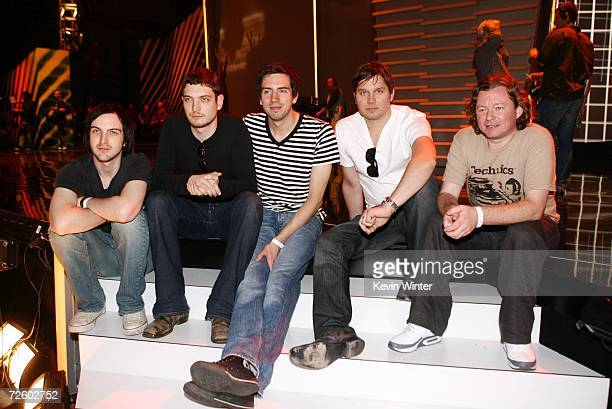 Rock band Snow Patrol members Paul Wilson Nathan Connolly Gary Lightbody Jonny Quinn and Tom Simpson pose on day 1 of the 2006 American Music Awards...