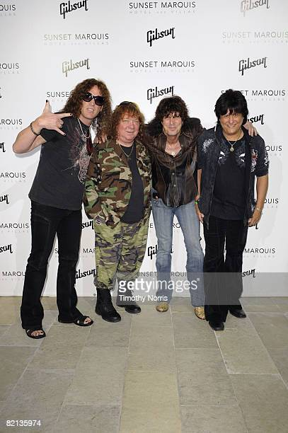 Rock band Sweet Steve Stewart Steve Priest Stuart Smith and Richie Onori arrive at the Sunset Marquis Hotel Villa Grand Opening Gibson Through The...