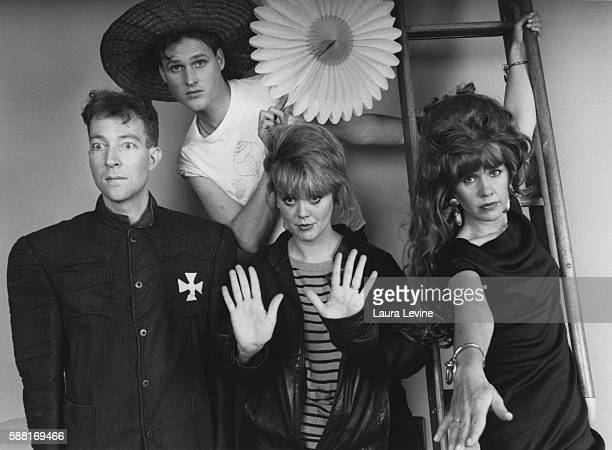 Rock band The B52's L to R Fred Schneider Keith Strickland Cindy Wilson and Kate Pierson