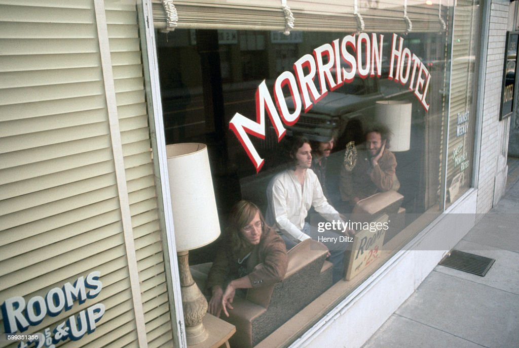 Rock band The Doors inside the Morrison Hotel during the photo shoot for the album cover & The Doors at the Morrison Hotel Pictures | Getty Images