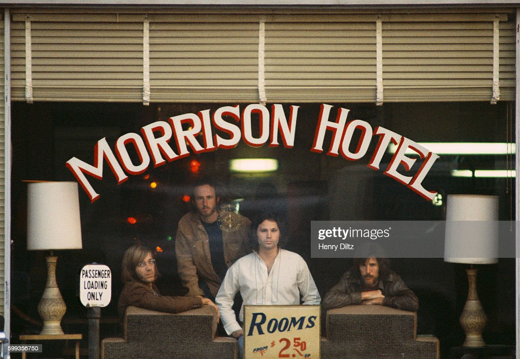 Rock band the Doors inside the Morrison Hotel for the Morrison Hotel album cover photo shoot  sc 1 st  Getty Images & Cover of The Doorsu0027 Morrison Hotel Pictures | Getty Images