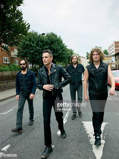 Rock band The Killers are photographed for the Independent on August 28 2012 in London England