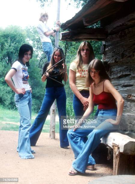 Rock band 'The Runaways' pose for a portrait in 1977 Joan Jett Cherie Currie Lita Ford Sandy West Jackie Fox