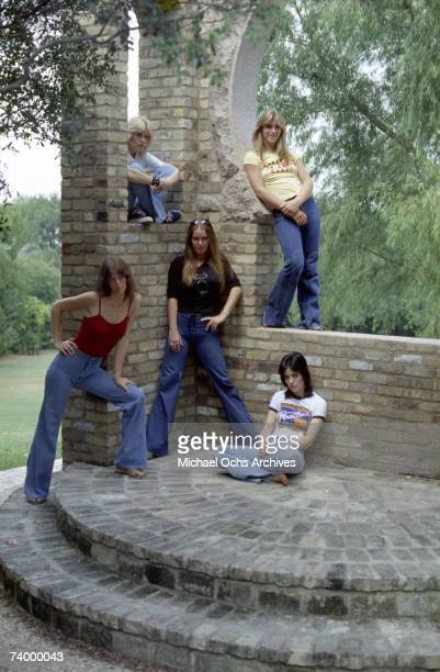 Rock band 'The Runaways' pose for a portrait in Los Angeles in 1977 Jackie Fox Cherie Currie Sandy West Joan Jett Lita Ford