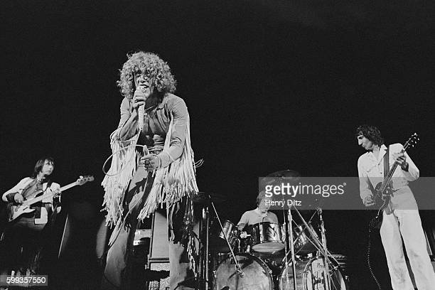 Rock band The Who plays at Woodstock The band is John Entwistle Roger Daltrey Keith Moon and Pete Townshend