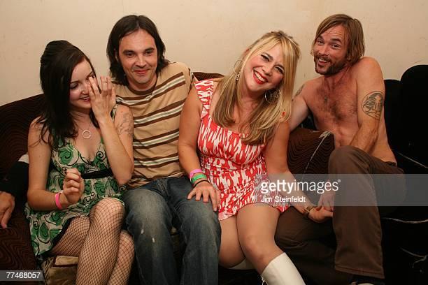 Rock band Veruca Salt poses for a portrait at Safari Sam's in Los Angeles California on September 21 2007