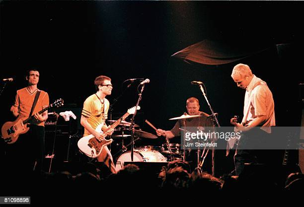 Rock band Weezer Brian Bell Rivers Cuomo Patrick Wilson Matt Sharp perform at First Avenue Nightclub in Minneapolis Minnesota on October 16 1994